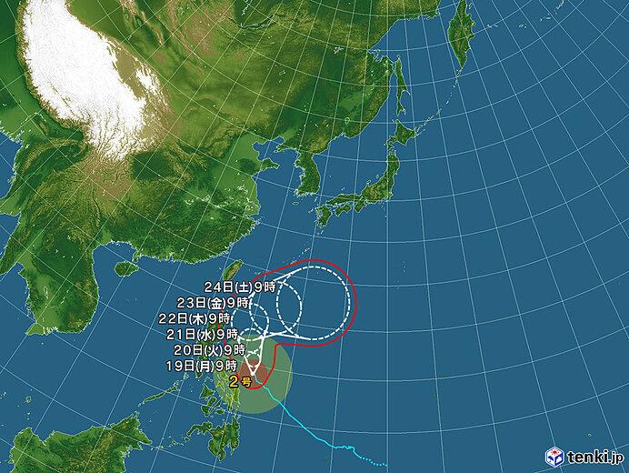 台風2号の進路は?