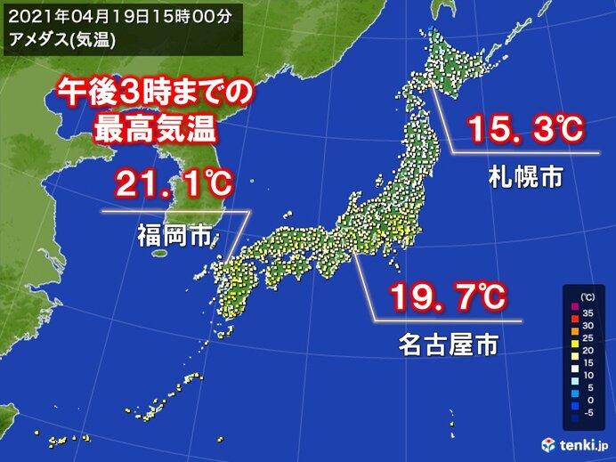 きょうは昨日より気温アップ あす以降は東京都心など所々で夏日に