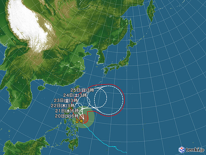 台風2号は非常に強い勢力で北上中 沖縄は晴れるが海はシケる