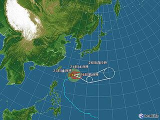 台風2号 沖縄の南を北東へ 沖縄で20メートル超の風 強風に十分注意を