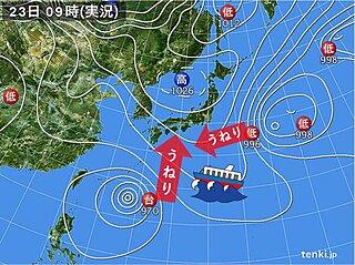 関西 太平洋沿岸 力強いうねりに注意