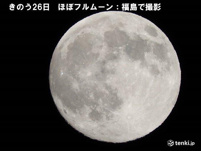 今夜(27日)月が出る時間は?