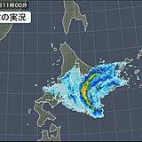 北海道に活発な雨雲 風も強まる 山沿いでは積雪に注意
