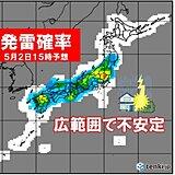 あす2日にかけて大荒れ 落雷・突風・ひょうに注意 本州の山岳は雪 登山は危険