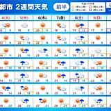 2週間天気 みどりの日は晴れて汗ばむ陽気 こどもの日以降はぐずついた天気に