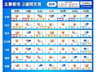 2週間天気 梅雨入りの沖縄と奄美は前半ほど雨 来週は前線北上 広く雨