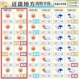 関西 きょう金曜日は夕方まで雨 土曜日と日曜日は晴れて汗ばむくらいに