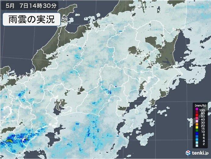 東京都心など関東の所々に雨雲 雨いつまで?