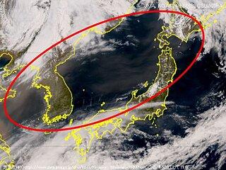 黄砂 福岡・新潟・札幌などで観測 視程10キロ未満も あすにかけて広く飛来か