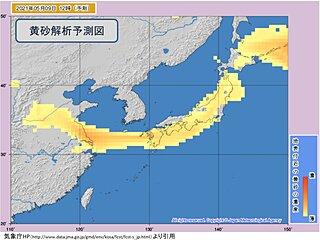 日曜日も「黄砂」と「暑さ」に注意 広く黄砂飛来予想 関東で30℃ほどと夏の暑さ