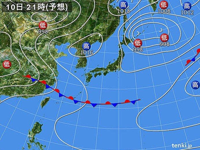 九州から関東甲信は広く晴れる 日本海側は曇りや雨