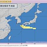 「黄砂」福岡は3日連続、鹿児島は2日連続で観測