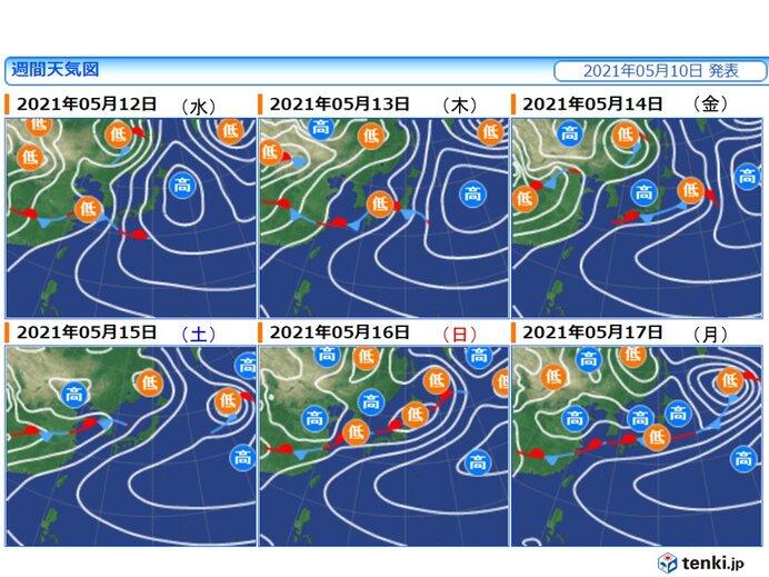 1週目(11日~17日) まるで梅雨のような天気