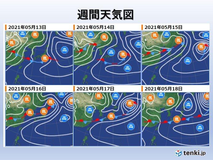 週末以降 短い周期で天気が変わる
