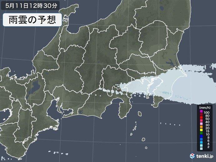 関東地方に雨雲