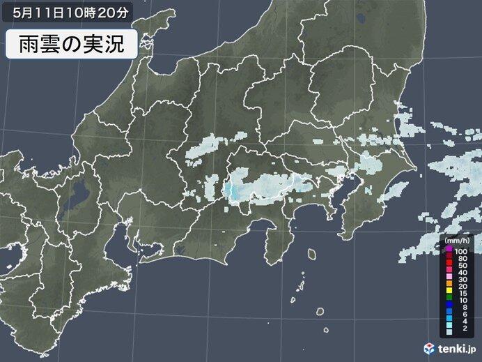 関東地方に雨雲 雨いつまで? 日中も気温の上がり方鈍く