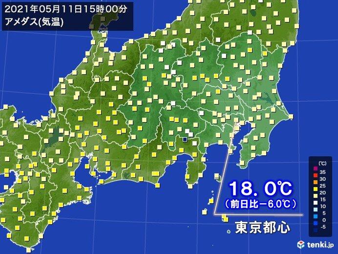 関東地方 気温ダウン 東京都心12日ぶりに20℃に届かず