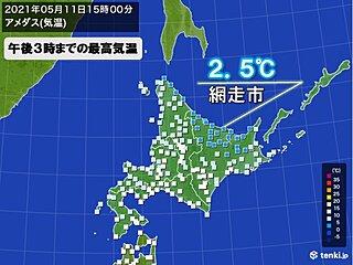 網走ではこの時期としては9年ぶりの寒さ 稚内と釧路では桜が満開に