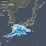 12日 前線の活動活発に 九州・四国で激しい雨 雨の範囲は次第に東へ
