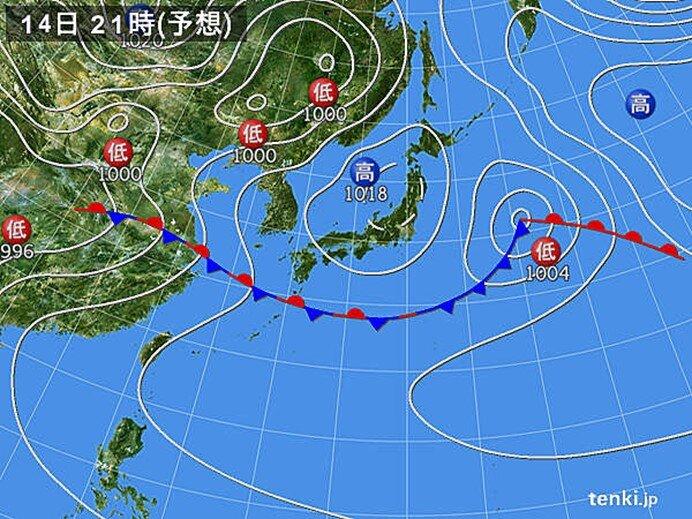 本州付近は広く日差しが照り付ける 九州南部は梅雨空