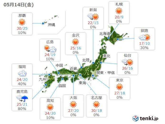 最高気温 夏日・真夏日 今シーズン最も多く
