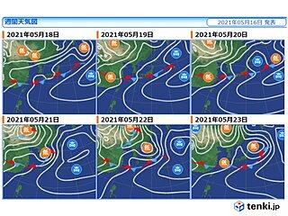 17日(月)は日本海側で大雨の恐れ 前線が本州付近に停滞 大雨への備え早めに