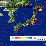 この一週間の地震回数 震度3以上は6回 うち今日3回発生
