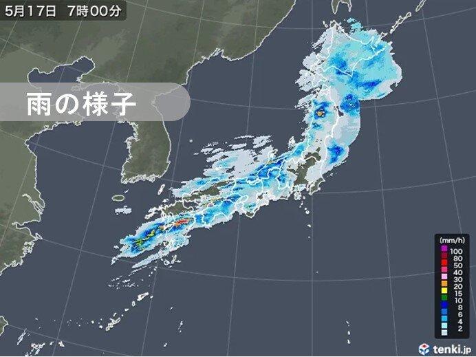 熊本県で猛烈な雨を観測 土砂災害に厳重警戒