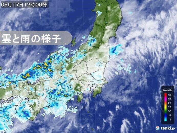 東京都心の正午の湿度80%以上 日に日に湿度高まる まるで梅雨