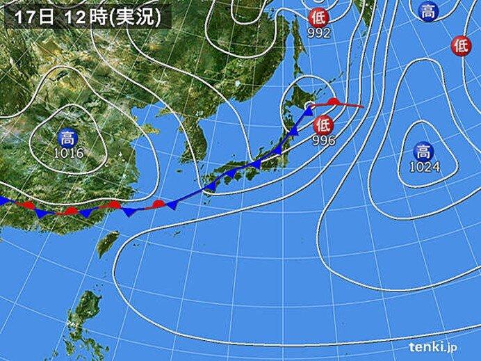 関東 南部を中心に南風 平均風速10メートル以上も