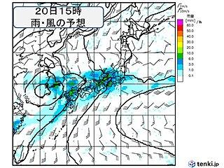 2週間天気 まるで梅雨の最盛期 20日(木)~21日(金)も大雨の恐れ