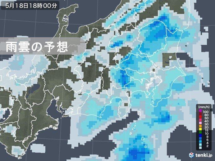 関東地方 夕方以降は雨の範囲が広がる 帰宅時間帯は本降りの雨も