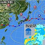 あす(金) 梅雨前線北上 福島県中通りと浜通り中心に大雨の恐れ