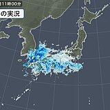九州や四国に活発な雨雲 土砂災害警戒情報「警戒レベル4相当」発表中の所も
