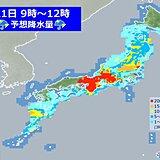 21日 梅雨前線に伴う活発な雨雲 本州を東進 更なる大雨に警戒を