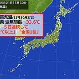 沖縄県波照間島 5日連続して最高気温「32℃以上」「全国1位」 まるで盛夏