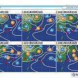 前線南下で沖縄は梅雨らしく 九州など梅雨の晴れ間あり 次に広く雨が降るのはいつ?