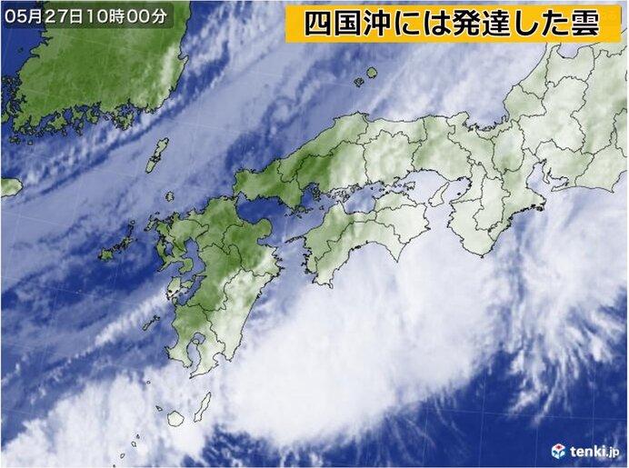 27日昼過ぎまで短時間強雨に注意を