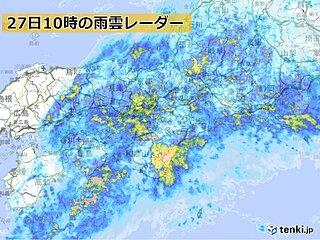 関西 27日昼過ぎまで非常に激しい雨の恐れ