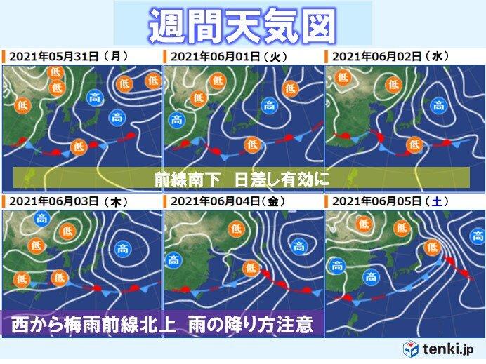 5月30日~6月5日 梅雨の晴れ間を有効に