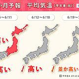 来週は暑さに注意 6月中旬以降は 関東甲信なども梅雨らしい天気に 1か月予報