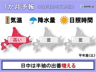 北海道の1か月予報 季節の歩みは順調に進む