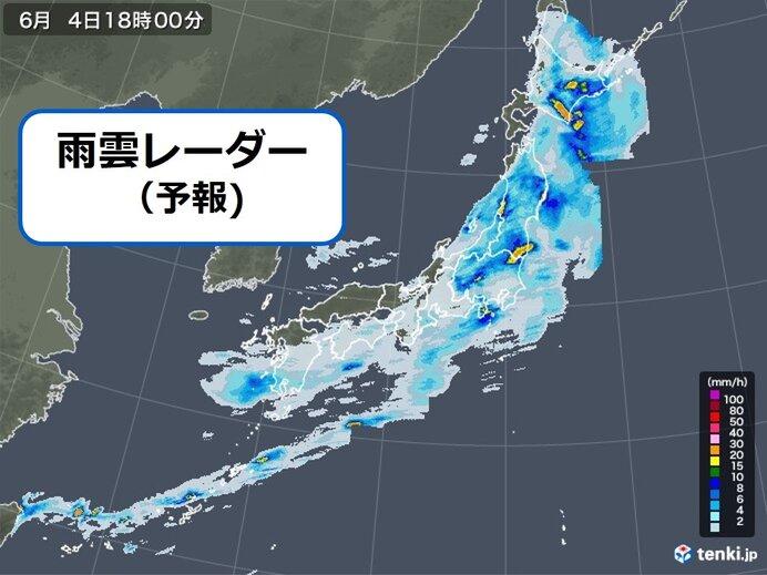今夜も 関東甲信~北海道で「激しい雨」 土砂災害・暴風・高波などに警戒