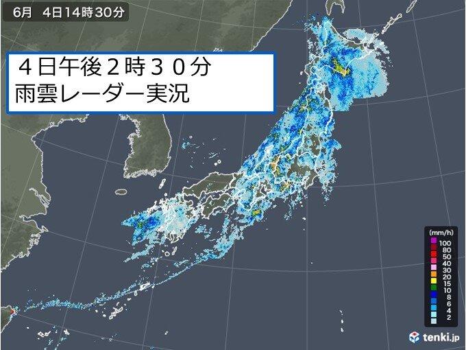 大雨エリアは徐々に北へ 今夜にかけて東北や北海道で「激しい雨」のおそれ