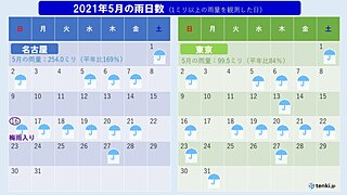 東海と関東甲信の梅雨入り 過去6割で同じ日 今年の関東甲信の梅雨入りは?