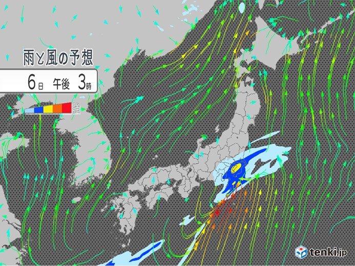 6日午後 関東で本降り