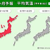 1か月予報 引き続き熱中症に注意 まもなく梅雨入りの地方も