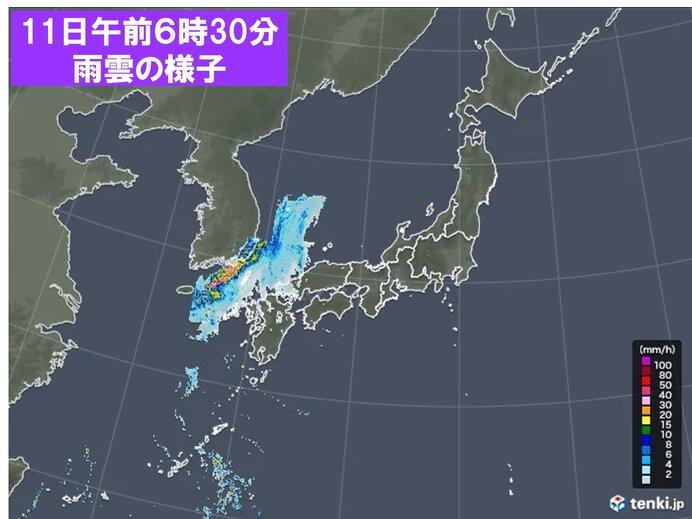各地の天気 広く晴れるが 西から雨雲近づく