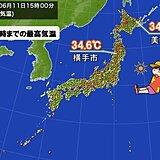 北海道と東北で猛暑日に迫る厳しい暑さ あすは湿度が高く体にこたえる暑さに