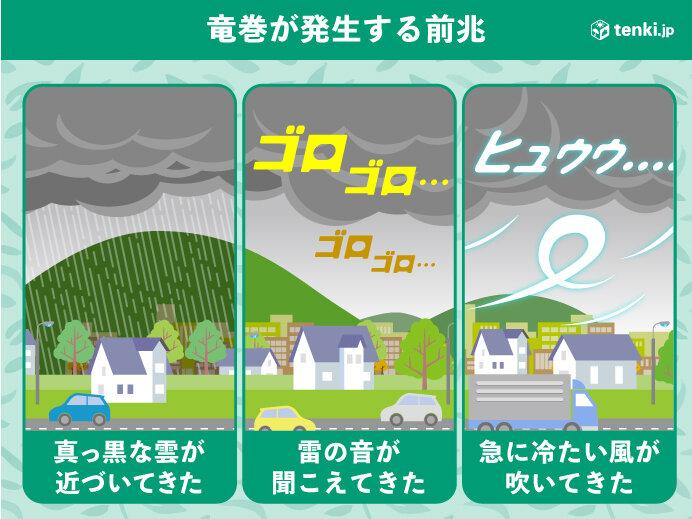落雷や竜巻などの突風に注意